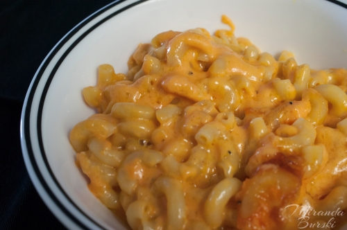 Bowl of Macaroni and Cheese - Close-up