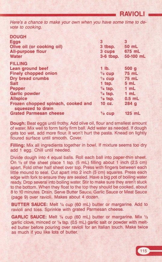 Ravioli Recipe