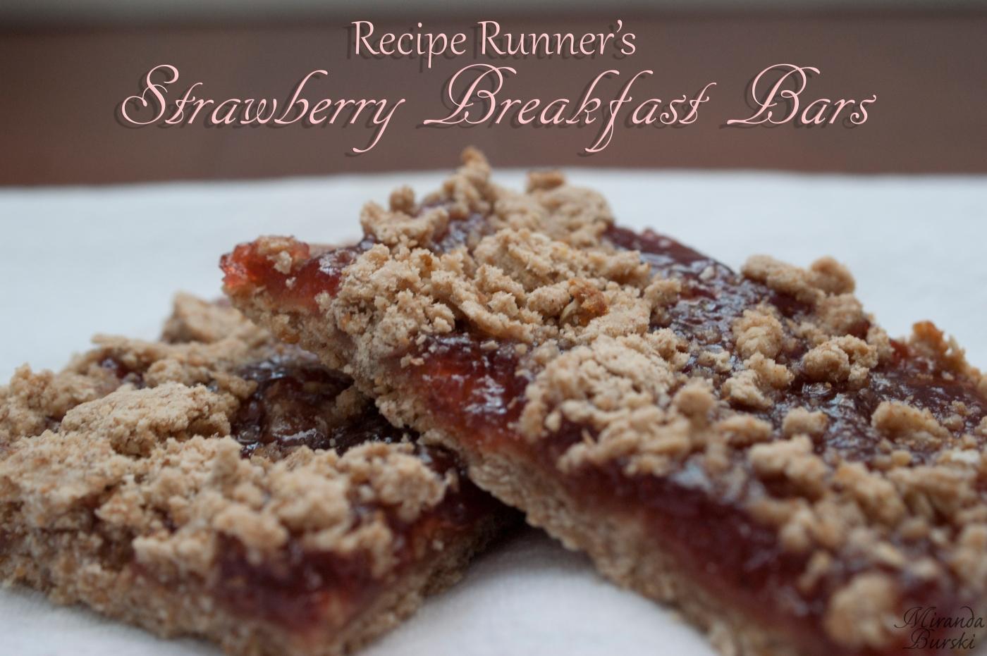 Recipe Runner's Strawberry Breakfast Bars