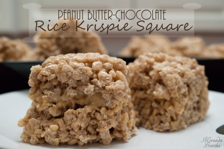 Peanut Butter-Chocolate Rice Krispie Square