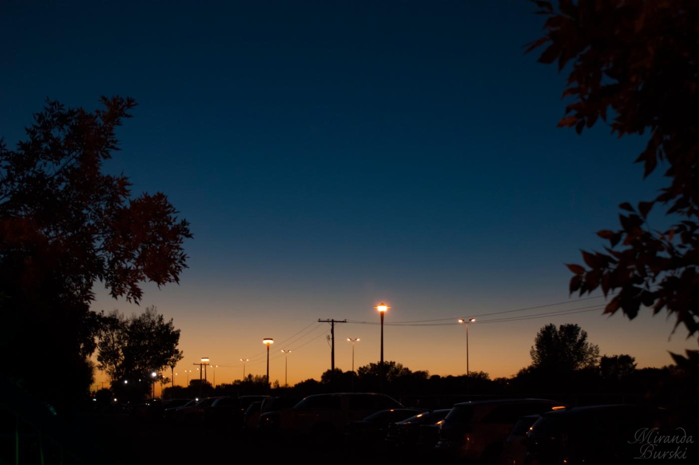 A fall sunset