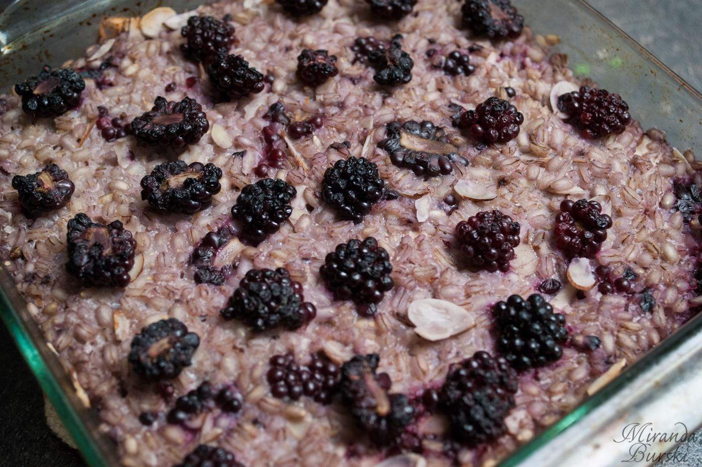 Blackberry Barley Bake
