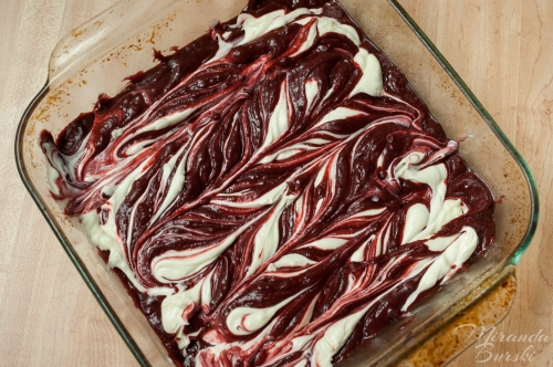 One Little Project's Red Velvet Cheesecake Brownies