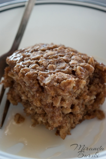 Maple and Brown Sugar Oatmeal Square