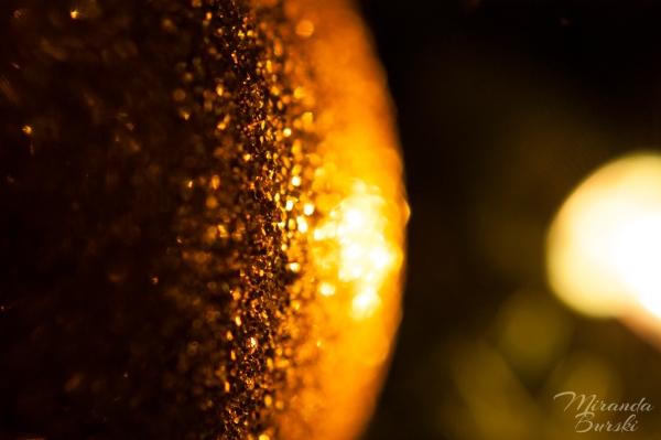 A sparkling Christmas tree ornament