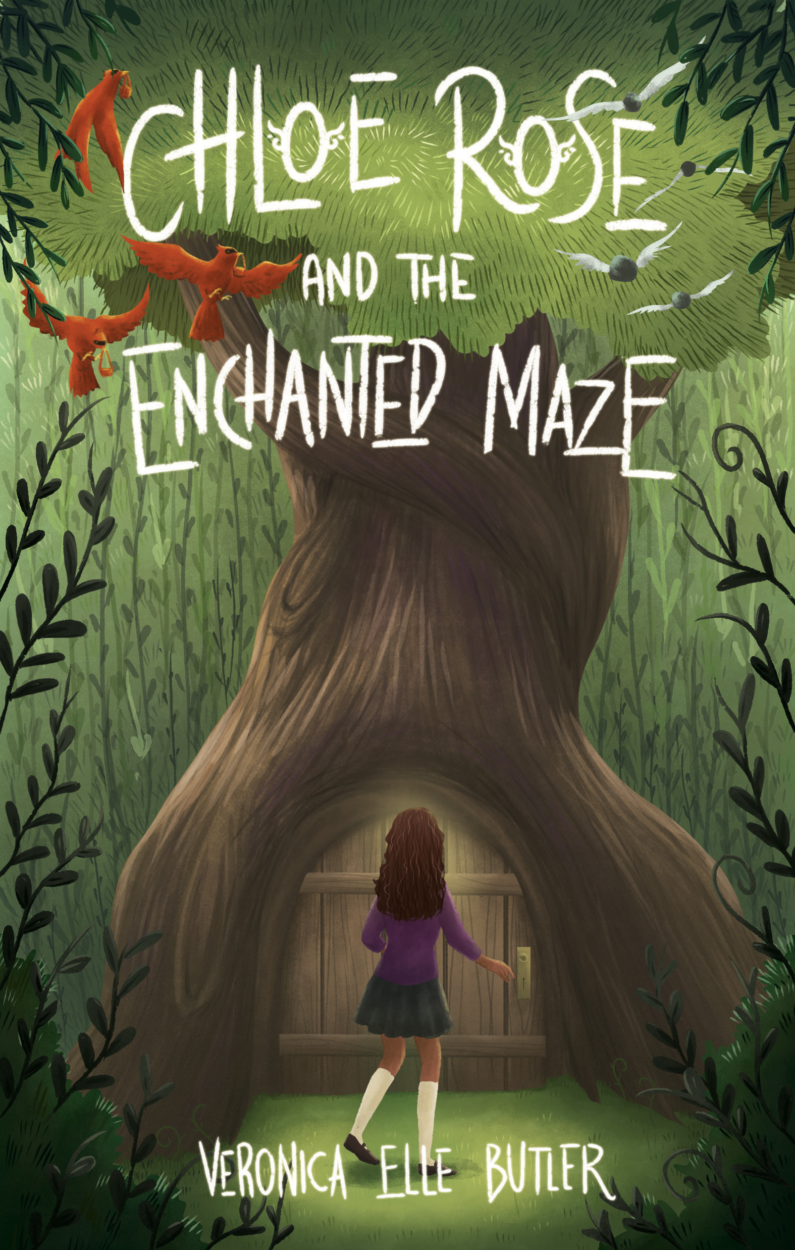 The cover of Chloe Rose and the Enchanted Maze, by Veronica Elle Butler